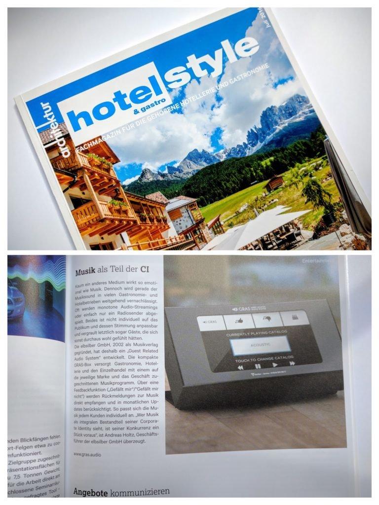 Clipping: elbsilber im Fachmagazin Hotelstyle